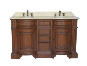 Antique Style Vanity Double Sink