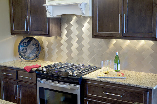 aspect stainless steel backsplash interior design ideas