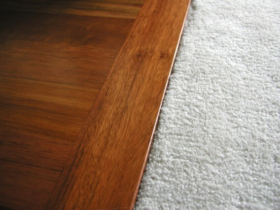 Carpet to hardwood flooring home makeover diva the for Different flooring throughout house