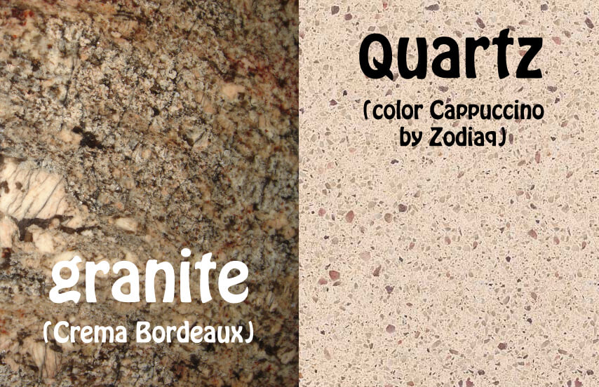 Help with choosing granite or quartz countertops home for Quartz countertops or granite