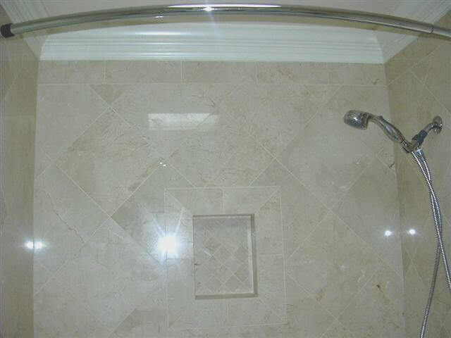 Completing The Marble Shower Walls