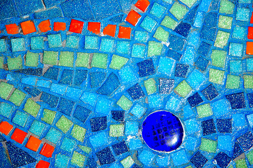 Mosaic Art And Mosaic Stairs Mosaic Tile Design Ideas By Purple Dog
