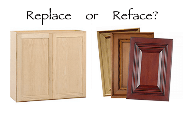 Replace or reface kitchen cabinets home makeover diva for Cabinet door refacing cost