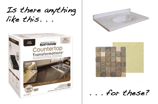 Can You Paint Cultured Marble Or Tile Countertops?
