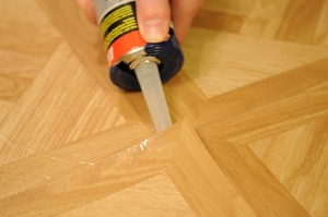 re-glue the area