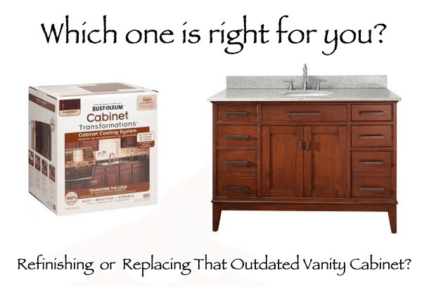 Refinishing Or Replacing Your Bathroom Vanity Cabinet Home - Replacing bathroom vanity