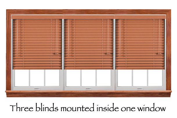 Three Window Blinds Mounted In One Window